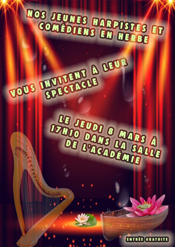 affiche spectacle harpe